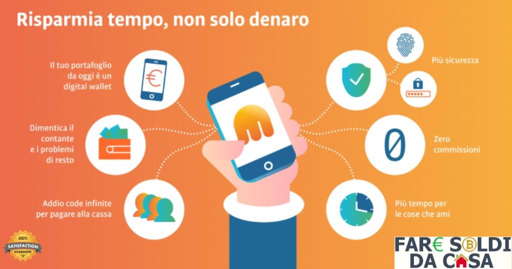 app tinaba carta con bonus in euro